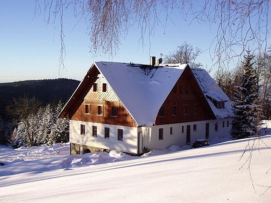 Penzion Hájenka v zimě